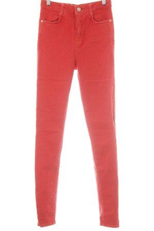 Zara Trafaluc Slim Jeans rot Casual-Look
