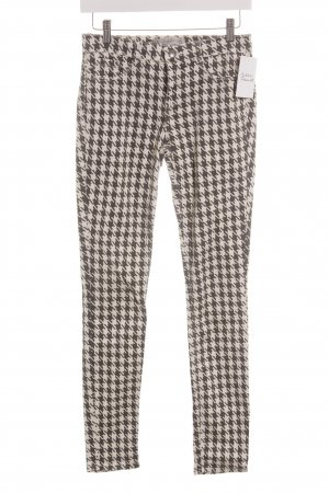 Zara Trafaluc Slim Jeans schwarz-weiß Hahnentrittmuster Brit-Look