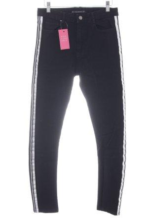 Zara Trafaluc Slim Jeans schwarz-weiß Street-Fashion-Look
