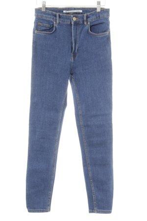 Zara Trafaluc Slim Jeans stahlblau-kornblumenblau Casual-Look