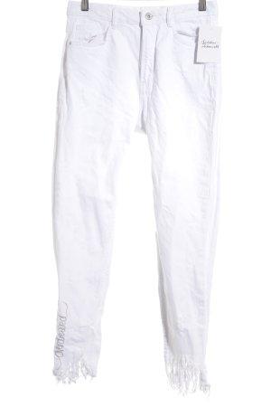 Zara Trafaluc Slim Jeans weiß Street-Fashion-Look