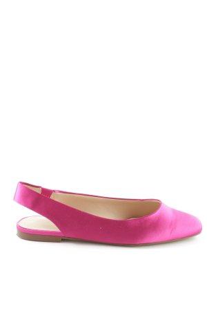 Zara Trafaluc Ballerine à bride arrière rose style d'affaires
