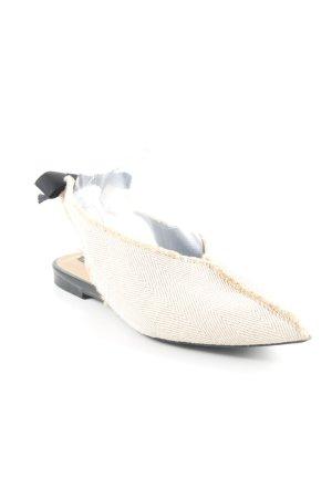 Zara Trafaluc Slingback pumps zandig bruin-room visgraatmotief