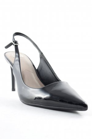 Zara Trafaluc Slingback-Pumps schwarz-nude Business-Look