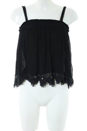 Zara Trafaluc Haut à fines bretelles noir style décontracté