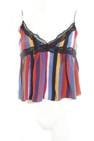 Zara Trafaluc Top con bretelline color block stile stravagante