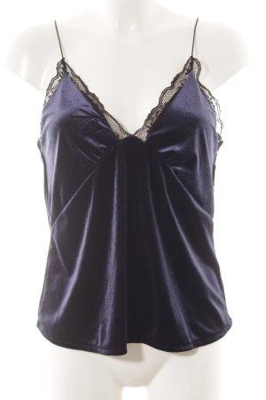 Zara Trafaluc Spaghettiträger Top dunkelblau Elegant