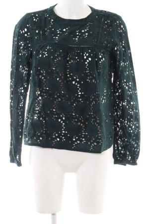 Zara Trafaluc Lace Blouse green flower pattern casual look