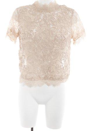 Zara Trafaluc Spitzenbluse rosé Blumenmuster Romantik-Look