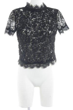 Zara Trafaluc Spitzenbluse schwarz Elegant