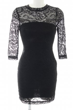 Zara Trafaluc Lace Dress black business style