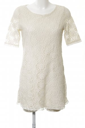 Zara Trafaluc Lace Dress natural white casual look