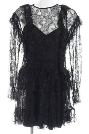 Zara Trafaluc Spitzenkleid schwarz Spitzen-Optik