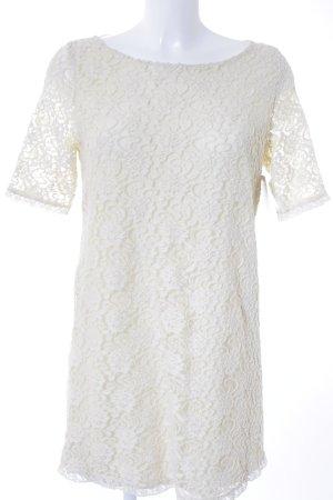 Zara Trafaluc Spitzenkleid wollweiß-creme florales Muster Romantik-Look