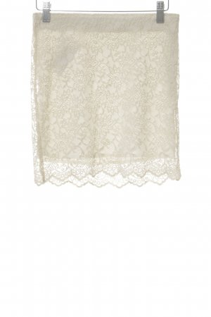 Zara Trafaluc Lace Skirt natural white elegant