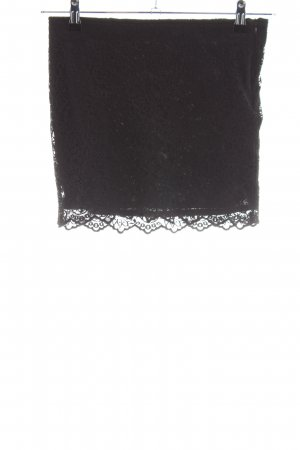 Zara Trafaluc Kanten rok zwart casual uitstraling
