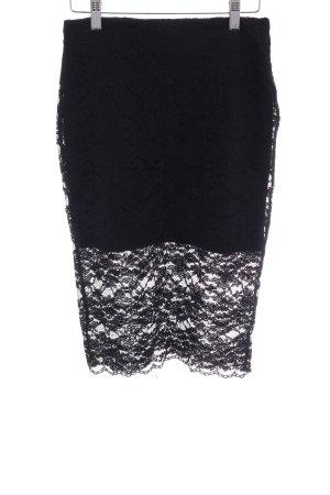 Zara Trafaluc Spitzenrock schwarz Elegant