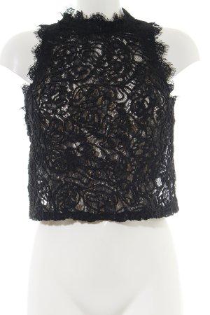 Zara Trafaluc Top de encaje negro estilo extravagante