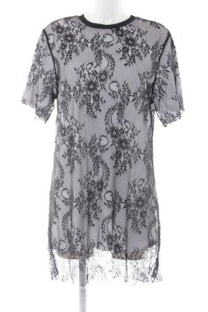 Zara Trafaluc Top di merletto nero-bianco stile lingerie