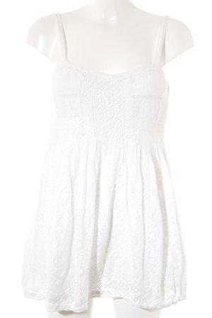 Zara Trafaluc Top de encaje blanco puro estilo romántico