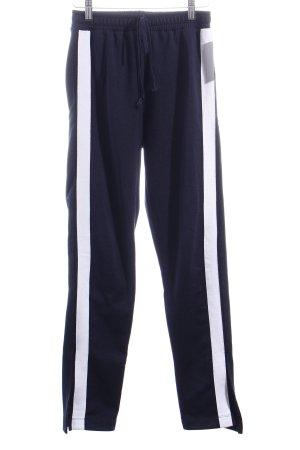 Zara Trafaluc Sporthose dunkelblau-weiß sportlicher Stil