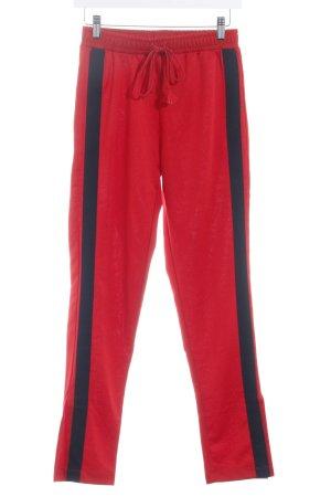 Zara Trafaluc Sporthose rot schlichter Stil