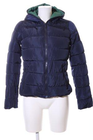 Zara Trafaluc Gewatteerd jack blauw quilten patroon casual uitstraling