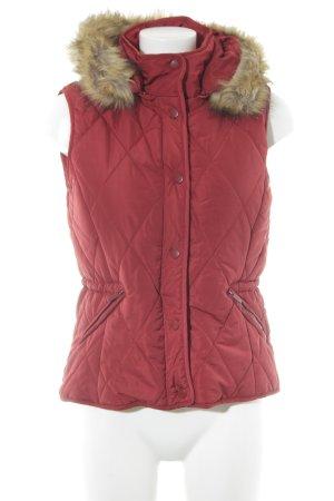 Zara Trafaluc Smanicato trapuntato rosso mattone stile casual