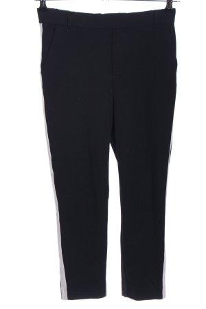 Zara Trafaluc Stoffhose schwarz-weiß Casual-Look