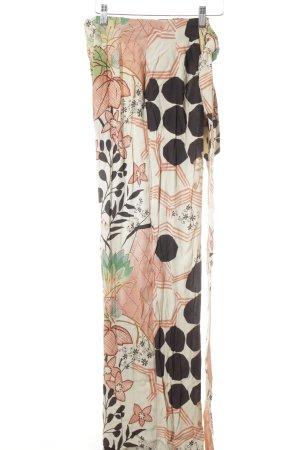 Zara Trafaluc Stoffhose florales Muster Hippie-Look