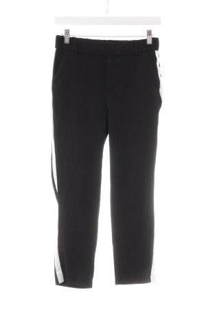Zara Trafaluc Stoffhose schwarz-weiß Streifenmuster Casual-Look