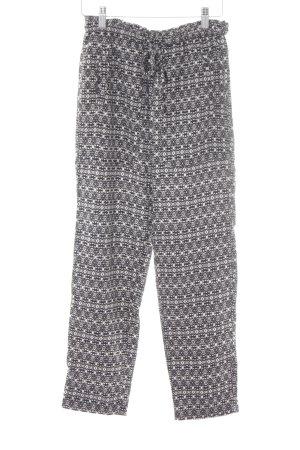 Zara Trafaluc Stoffhose schwarz-wollweiß abstraktes Muster schlichter Stil