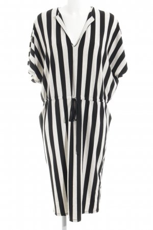 Zara Trafaluc Strandkleid wollweiß-schwarz Streifenmuster Casual-Look
