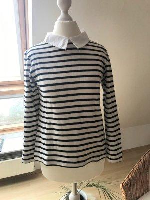 Zara Trafaluc Pull long noir-blanc coton