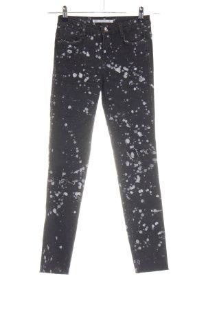 Zara Trafaluc Stretch jeans zwart-wit volledige print casual uitstraling
