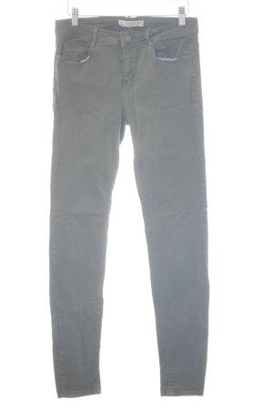 Zara Trafaluc Stretch Jeans dunkelgrün Casual-Look