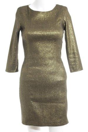 Zara Trafaluc Stretchkleid bronzefarben extravaganter Stil