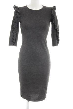 Zara Trafaluc Vestido elástico gris oscuro estilo sencillo