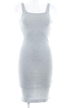 Zara Trafaluc Vestido elástico gris claro estilo sencillo