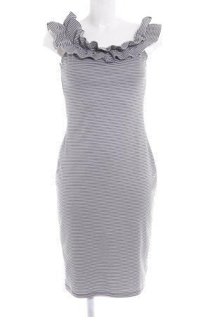 Zara Trafaluc Stretchkleid schwarz-weiß Streifenmuster Casual-Look