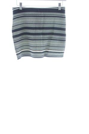 Zara Trafaluc Stretchrock dunkelblau-weiß Ringelmuster Casual-Look
