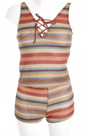 Zara Trafaluc Knitted Twin Set striped pattern beach look
