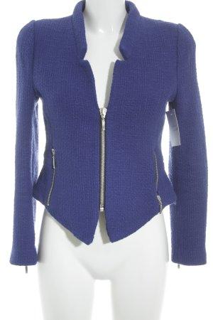 Zara Trafaluc Strickblazer stahlblau Casual-Look