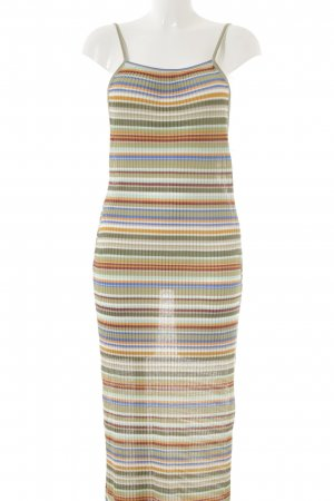 Zara Trafaluc Robe en maille tricotées motif rayé style hippie