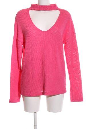 Zara Trafaluc Strickpullover pink Casual-Look