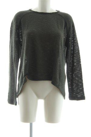 Zara Trafaluc Strickpullover dunkelgrün Casual-Look