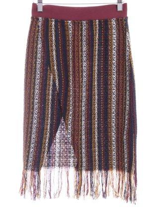 Zara Trafaluc Jupe tricotée Motif d'étoiles style décontracté