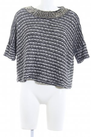 Zara Trafaluc Camisa tejida negro-blanco moteado Remaches