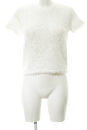 Zara Trafaluc Camisa tejida blanco look casual