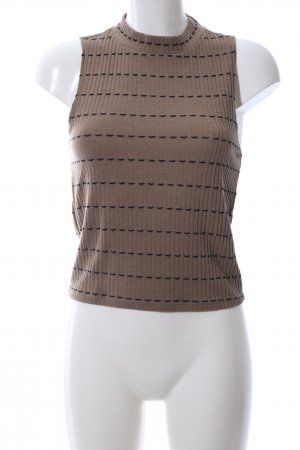 Zara Trafaluc Knitted Top brown abstract pattern casual look